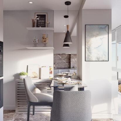 Дизайн 2х комнатной квартиры Энергодар ремонт кухни