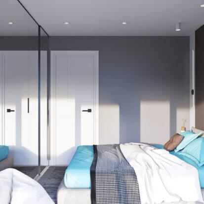 Дизайн 2х комнатной квартиры Энергодар спальня цена