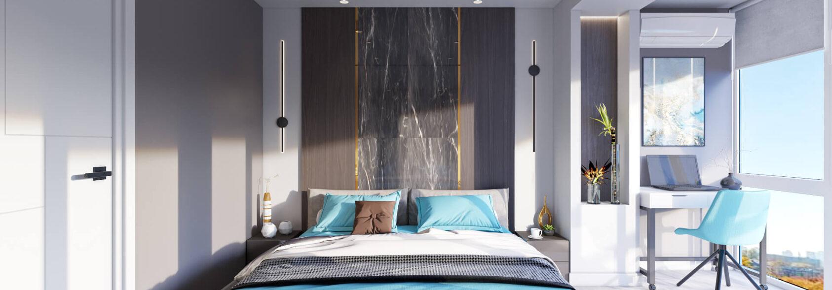Дизайн 2х комнатной квартиры Энергодар спальня