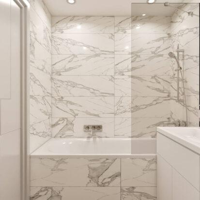 Дизайн 2х комнатной квартиры Энергодар туалет