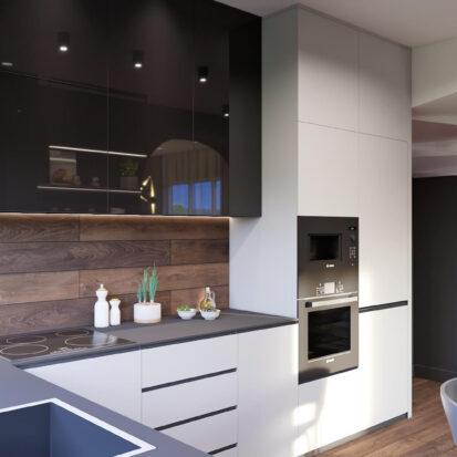 Дизайнерский ремонт дома Балабино кухня