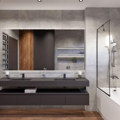 Дизайн дома Балабино ванная комната