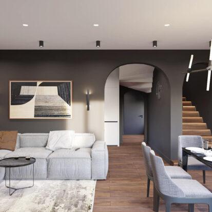 Дизайн дома Балабино гостиная