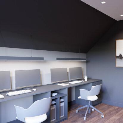 Дизайн дома Балабино интерьер кабинета