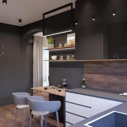 Дизайн дома Балабино интерьер кухни