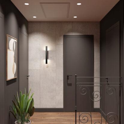 Дизайн дома Балабино коридор 2й этаж