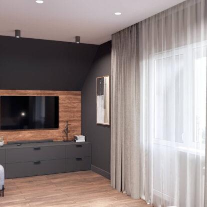Дизайн дома Балабино мастер спальня