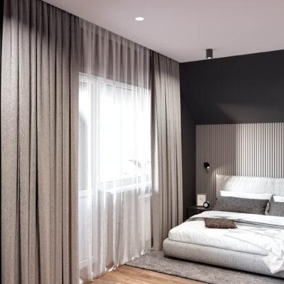 Дизайн дома Балабино проект спальни