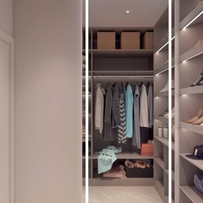 Дизайн квартиры для сдачи в аренду гардеробная комната проект