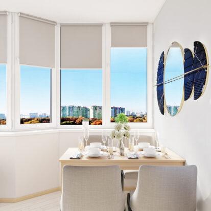 Дизайн квартиры для сдачи в аренду столовая на балконе