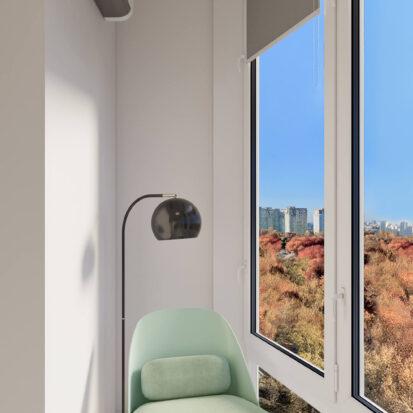 Дизайн квартиры под сдачу балкон зона отдыха