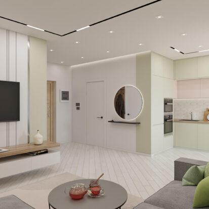 Дизайн квартиры под сдачу гостиная совмещенная с кухней