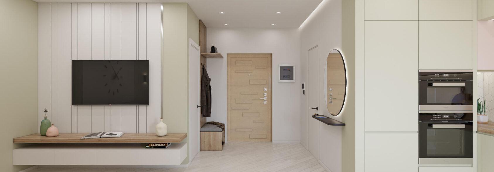 Дизайн квартиры под сдачу гостиная с кухней