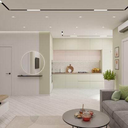 Дизайн квартиры под сдачу гостиная цена