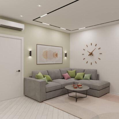 Дизайн квартиры под сдачу дизайнерский ремонт гостиной