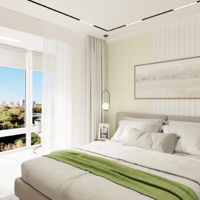 Дизайн квартиры под сдачу дизайнерский ремонт спальни