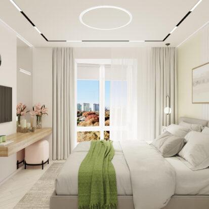 Дизайн квартиры под сдачу дизайн-проект спальни