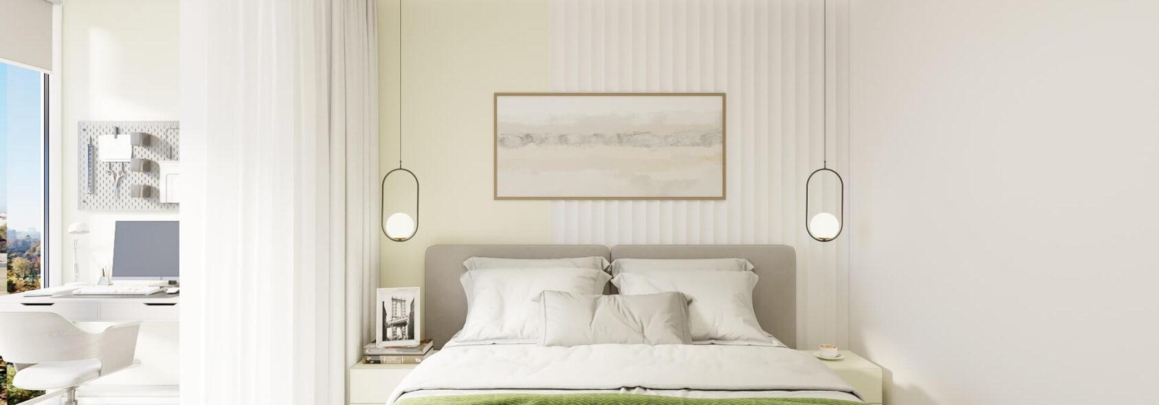 Дизайн квартиры под сдачу интерьер спальни