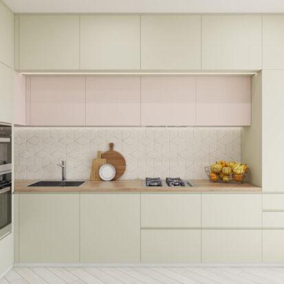 Дизайн квартиры под сдачу кухня