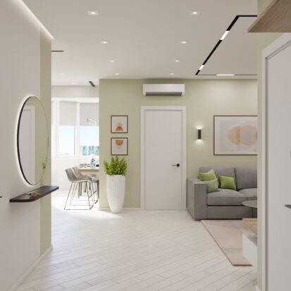 Дизайн квартиры под сдачу прихожая проект