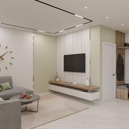 Дизайн квартиры под сдачу проект гостиной