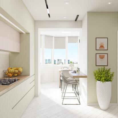 Дизайн квартиры под сдачу проект кухни студии