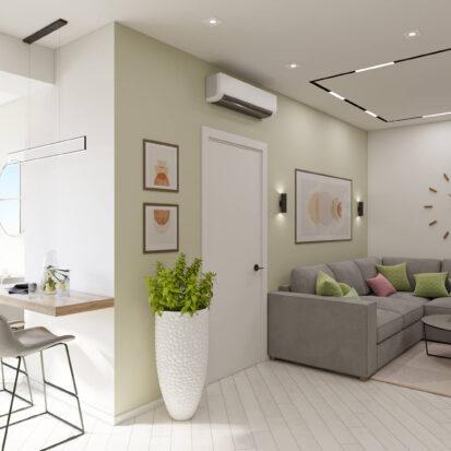 Дизайн квартиры под сдачу ремонт гостиной