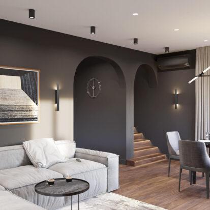 Дизайн-проект дома Балабино гостиная