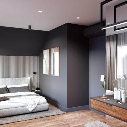 Дизайн-проект дома Балабино спальня