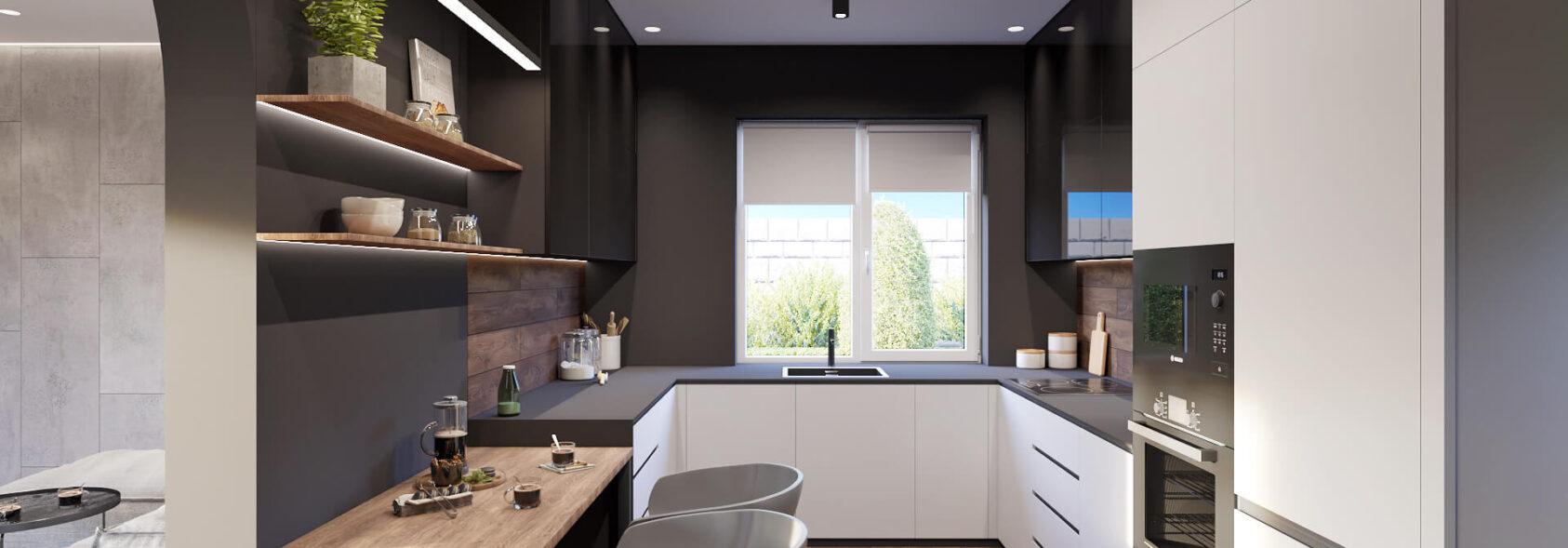 Заказать дизайн дома Балабино кухня