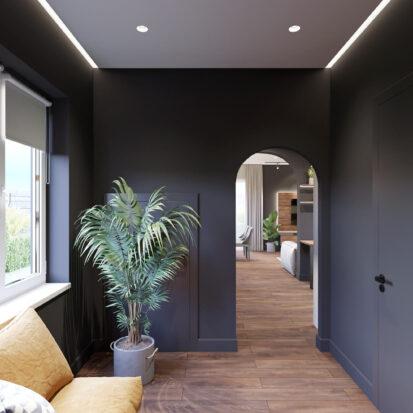 Элитный дизайн дома Балабино коридор