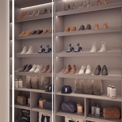 Элитный дизайн квартиры для сдачи в аренду гардеробная