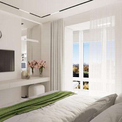 Элитный дизайн квартиры для сдачи в аренду спальня