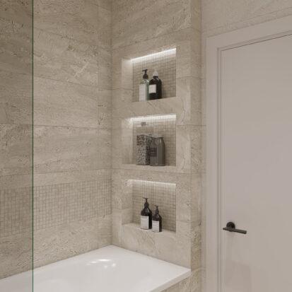 Элитный дизайн квартиры под сдачу ванная комната