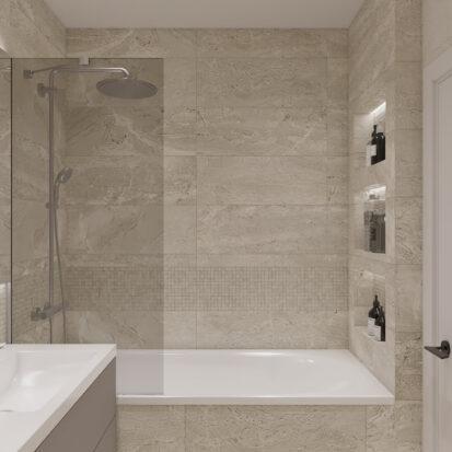 Элитный дизайн квартиры под сдачу ванная цена