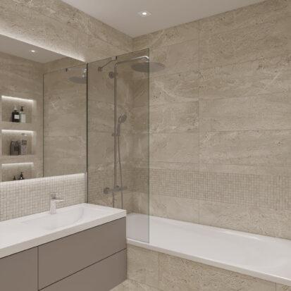Элитный дизайн квартиры под сдачу дизайнерский ремонт ванной