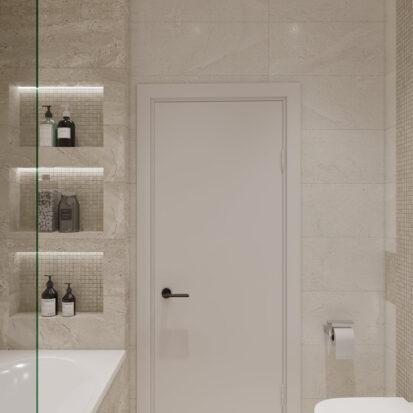 Элитный дизайн квартиры под сдачу интерьер ванной