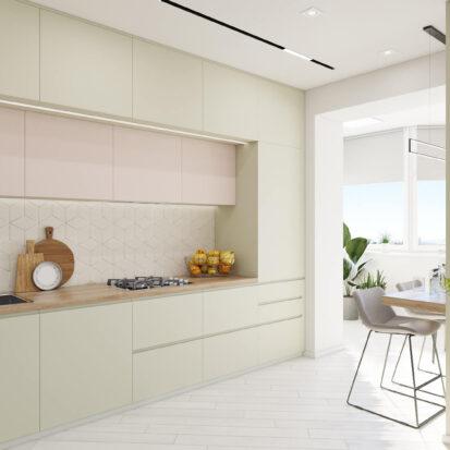 Элитный дизайн квартиры под сдачу кухня студия
