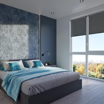 Дизайнерский ремонт двухкомнатной квартиры в новостройке спальня