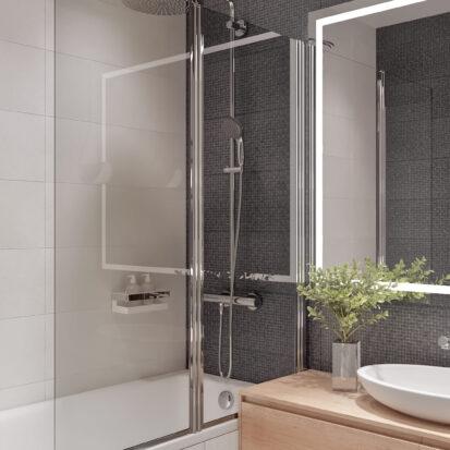Дизайнерский ремонт квартиры в comfort city ванная