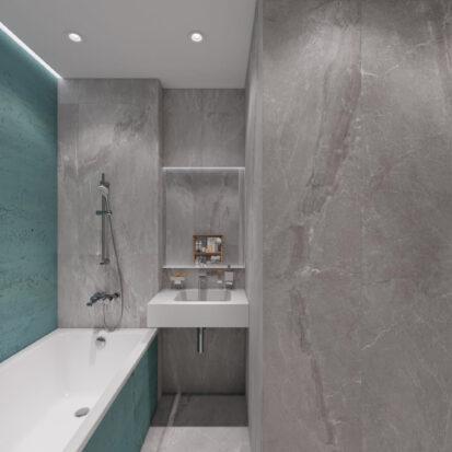 Дизайн двухкомнатной квартиры в новостройке ванная цена
