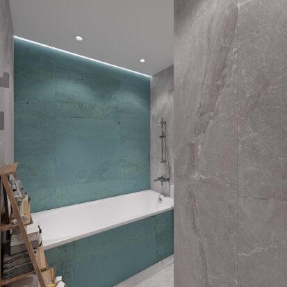 Дизайн двухкомнатной квартиры в новостройке ванная