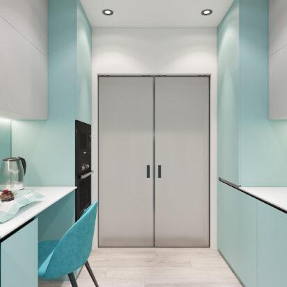 Дизайн двухкомнатной квартиры в новостройке интерьер кухни