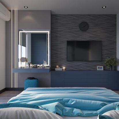 Дизайн двухкомнатной квартиры в новостройке интерьер спальни