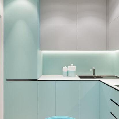Дизайн двухкомнатной квартиры в новостройке кухня заказать