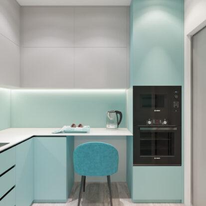 Дизайн двухкомнатной квартиры в новостройке кухня цена