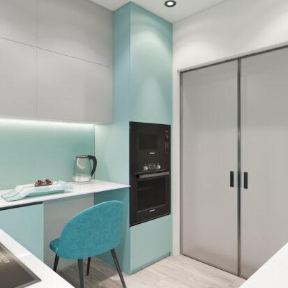 Дизайн двухкомнатной квартиры в новостройке кухня