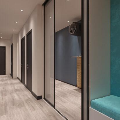 Дизайн двухкомнатной квартиры в новостройке прихожая