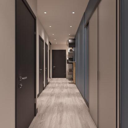 Дизайн двухкомнатной квартиры в новостройке проект прихожей