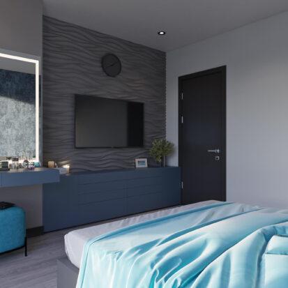 Дизайн двухкомнатной квартиры в новостройке проект спальни